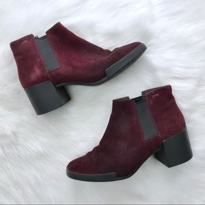 Camper Lotta Burgundy Suede Chelsea Ankle Boot